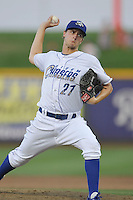 Omaha Storm Chasers pitcher Jake Odorizzi #27 throws during the game against the Reno Aces at Werner Park on August 3, 2012 in Omaha, Nebraska.(Dennis Hubbard/Four Seam Images)