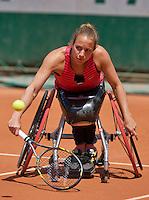 France, Paris, 04.06.2014. Tennis, French Open, Roland Garros, Wheelchair player Jiske Griffioen (NED)<br /> Photo:Tennisimages/Henk Koster