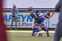 Anke Vanhooren (7) of Eendracht Aalst pictured during a female soccer game between Eendracht Aalst and Racing Genk on the 10 th and last matchday of play off 2 of the 2020 - 2021 season of Belgian Scooore Womens Super League , Saturday 29 st of May 2021  in Aalst , Belgium . PHOTO SPORTPIX.BE | SPP | STIJN AUDOOREN
