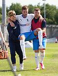 17.07.2021 Rangers B v Bo'ness Utd: Darren McCormack carried off injured