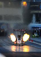 Feb. 21, 2010; Chandler, AZ, USA; NHRA top fuel dragster driver Cory McClenathan during the Arizona Nationals at Firebird International Raceway. Mandatory Credit: Mark J. Rebilas-