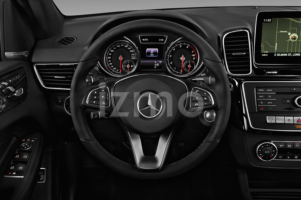 Car pictures of steering wheel view of a 2018 Mercedes Benz GLE Base 5 Door SUV