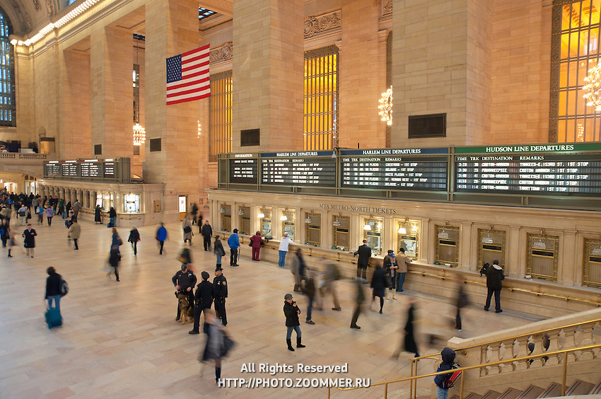 People hurrying in Grand Central terminal in Manhattan, New York City
