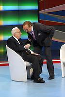 Francesco Cossiga e Pippo Baudo.Roma 10/11/2007 Domenica In .Ultima apparizione in Tv.Foto GB / Insidefoto.