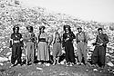 Iraq 1962?.In Qara Dagh, first right sheikh Mohamed Kasnazani, 2nd Kemal Mufti,third, Serhat Khalifa Younis  Irak 1962?. Au Qara Dagh, 1er a droite, Sheikh Mohamed Kasnazani, 2eme Kemal Mufti, 3eme ,  Serhat Khalifa Younis
