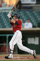 Andruw Simunic of the Lancaster JetHawks during game against the Lake Elsinore Storm at Clear Channel Stadium in Lancaster,California on September 1, 2010. Photo by Larry Goren/Four Seam Images