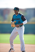 John Malcom (14) of Detroit Country Day High School in West Bloomfield, Michigan during the Under Armour All-American Pre-Season Tournament presented by Baseball Factory on January 14, 2017 at Sloan Park in Mesa, Arizona.  (Mike Janes/MJP/Four Seam Images)
