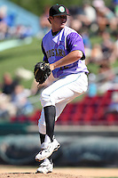 Kane County Cougars pitcher Ryan Doolittle during a game vs. the Peoria Chiefs at Elfstrom Stadium in Geneva, Illinois August 15, 2010.   Peoria defeated Kane County 8-4.  Photo By Mike Janes/Four Seam Images