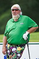 April 29th 2021, The Woodlands, Texas USA;  John Daly waits to tee off on 1 during the preview of the 2021 Insperity Invitational at The Woodlands Country Club on April 29, 2021 in The Woodlands, Texas.