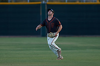 AZL Giants Black right fielder Harrison Freed (32) prepares to make a catch during an Arizona League game against the AZL Angels at the Giants Baseball Complex on June 21, 2019 in Scottsdale, Arizona. AZL Angels defeated AZL Giants Black 6-3. (Zachary Lucy/Four Seam Images)