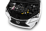 Car Stock 2017 Lexus NX 200t-F-Sport 5 Door SUV Engine  high angle detail view