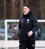 Head coach Jimmy Coenraets of OHL pictured during a female soccer game between Oud Heverlee Leuven and SV Zulte-Waregem on the 16 th matchday of the 2020 - 2021 season of Belgian Womens Super League , sunday 14 th of March 2021  in Heverlee , Belgium . PHOTO SPORTPIX.BE | SPP | DAVID CATRY