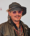Johnny Depp, November 11, 2016, Tokyo, Japan : Johnny Depp poses on the red carpet for 'The Classic Rock Awards 2016' at Ryogoku Kokugikan in Tokyo, Japan on November 11, 2016.