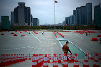 The main square of the Civic Center of Shenzhen, China is seen on Feb. 7 2012.