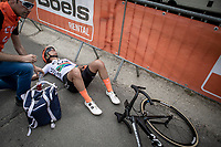 Ashleigh Moolman (RSA/ccc-liv) post race exhausted.<br /> <br /> 22nd la Flèche Wallonne Féminin 2019 (1.WWT)<br /> 1 Day Race: Huy – Huy 118,5km<br /> women's elite race<br /> <br /> ©kramon