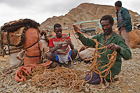 stop in Berahle Ethiopia for salt camel caravans going to the Dallol salt mine