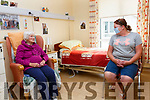 Eimear King visits her mother Margaret O'Shea in Valentia Hospital on Wednesday evening as visiting restrictions begin to ease.