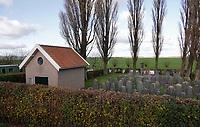 Nederland  Westzaan -  2020.  Joodse Begraafplaats.  Vanaf 1887 heeft de joodse gemeente van Zaandam de beschikking over een eigen begraafplaats aan de Westzanerdijk.  Foto : ANP/ HH / Berlinda van Dam