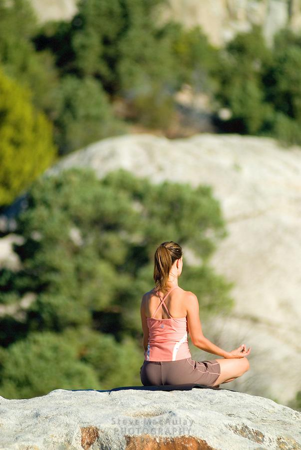 Joy - City of Rocks, Idaho - Title Nine - stretching