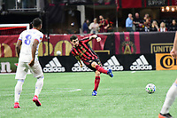ATLANTA, GA - MARCH 07: ATLANTA, GA - MARCH 07: Atlanta United midfielder Eric Remedi passes the ball during the match against FC Cincinnati, which Atlanta won, 2-1, in front of a crowd of 69,301 at Mercedes-Benz Stadium during a game between FC Cincinnati and Atlanta United FC at Mercedes-Benz Stadium on March 07, 2020 in Atlanta, Georgia.