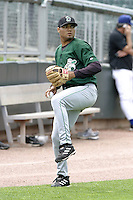 Clinton Lumberkings J.B. Diaz during practice before a Midwest League game at Fifth Third Field on July 18, 2006 in Dayton, Ohio.  (Mike Janes/Four Seam Images)