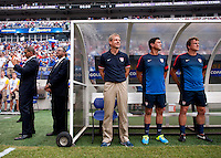 Juergen Klinsmann, Martin Vasquez, Andreas Herzog.  The United States defeated El Salvador, 5-1, during the quarterfinals of the CONCACAF Gold Cup at M&T Bank Stadium in Baltimore, MD.