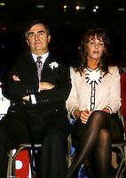 Montreal (Qc) CANADA - File Photo -  1993 -<br /> <br /> Lucien Bouchard, Leader Bloc Quebecois (L) and wife Audrey Best (R)