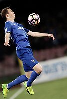 Calcio, Serie A: Napoli, stadio San Paolo, 2 aprile, 2017.<br /> Juventus Stephan Lichtsteiner in action during the Italian Serie A football match between Napoli and Juventus at San Paolo stadium, April 2, 2017<br /> UPDATE IMAGES PRESS/Isabella Bonotto