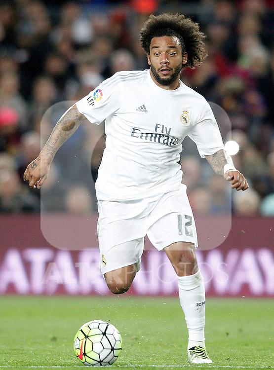 Real Madrid's Marcelo Vieira during La Liga match. April 2,2016. (ALTERPHOTOS/Acero)