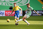 Celtic v St Johnstone…12.05.21  SPFL Celtic Park<br />James Brown and Adam Montgomery<br />Picture by Graeme Hart.<br />Copyright Perthshire Picture Agency<br />Tel: 01738 623350  Mobile: 07990 594431