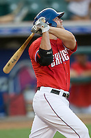 Round Rock Express third baseman Chris Davis #19 swings during a game against the New Orleans Zephyrs at the Dell Diamond on July 20, 2011 in Round Rock, Texas.  New Orleans defeated Round Rock 14-11.  (Andrew Woolley/Four Seam Images)