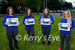 Students from Castleisland Community College 2021 graduation class. L to r: Joanna Brown, Danute Voveryte, Leah O'Connell and Gabrielle Voveryte.