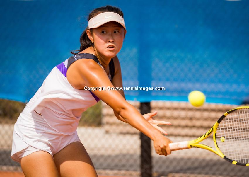 Amstelveen, Netherlands, 13 August 2020, NTC, National Tennis Center, KNLTB Wilcard Tournament, Minchae M.C. Kim (NED)<br /> Photo: Henk Koster/tennisimages.com