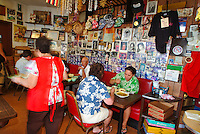 Small local style food at resturant at  'Ono Hawaiian Foods' in Kapalulu near Waikiki, island of Oahu