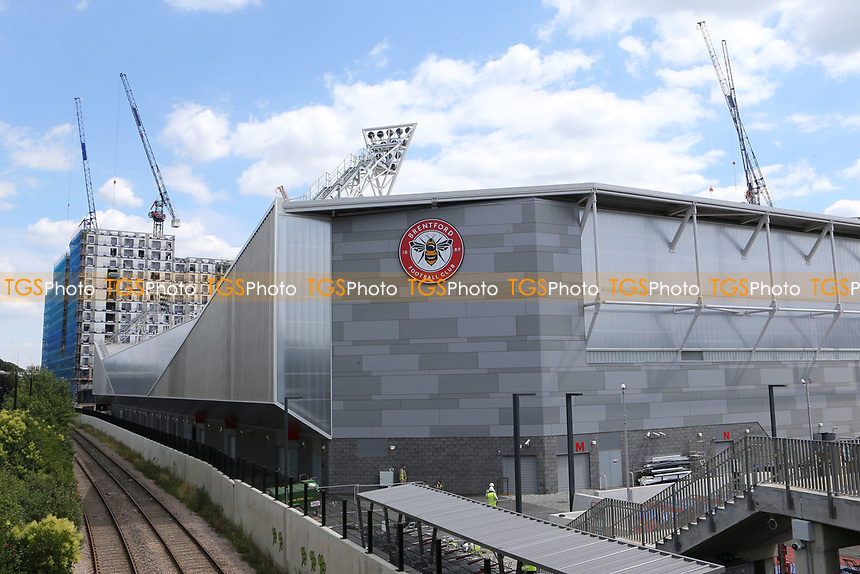 General view of Brentford Community Stadium which will be home to Brentford FC in the near future. London Irish RFU will also be playing at the new Stadium sometime in the future during Brentford vs Barnsley, Sky Bet EFL Championship Football at Griffin Park on 22nd July 2020