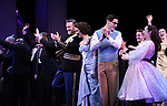 """Carmen Cusack, Ben Davis, Jason Gotay and Lauren Worsham during the Curtain Call for the closing Night performance of  Encores! """"Call Me Madam"""" at City Center on February 10, 2019 in New York City."""