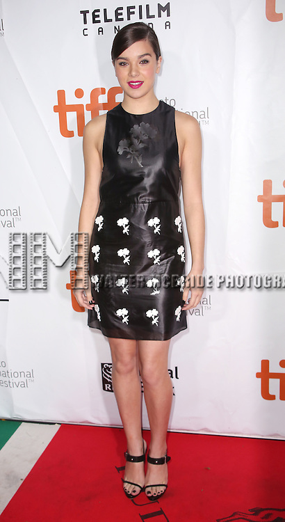 Hailee Steinfeld attending the 'The Riot Club' red carpet arrivals during the 2014 Toronto International Film Festival at the Roy Thomson Hall on September 6, 2014 in Toronto, Canada.