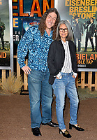 """LOS ANGELES, USA. October 11, 2019: Weird Al Yankovic & Suzanne Yankovic at the premiere of """"Zombieland: Double Tap"""" at the Regency Village Theatre.<br /> Picture: Paul Smith/Featureflash"""