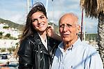 Italian actress Carlotta Morelli and Italian director Ruggero Deodato pose to the media at the photocall in the port at Festival de Cine Fantastico de Sitges in Barcelona. October 11, Spain. 2016. (ALTERPHOTOS/BorjaB.Hojas)