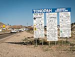 Sign at the north entrance to Tonopah, Nev.
