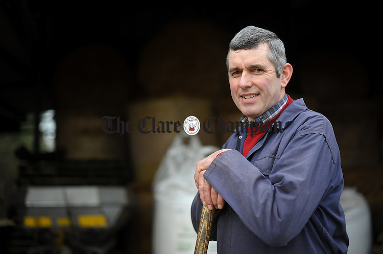 Andrew Dundas, the newly elected chairman of Clare IFA at home on his farm at Dromin, Ardnacrusha. Photograph by John Kelly.
