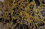 Wall mural, Rongbuk Monastery, Tibet