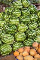 Tripoli, Libya - Melons, Watermelons, Fruit Vendor Stand