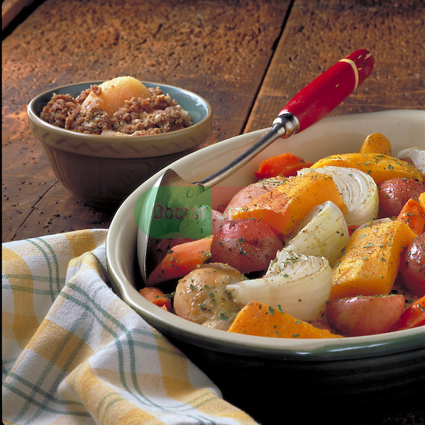 bowl of roasted root vegetables
