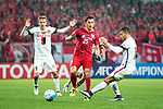 Shanghai FC Midfielder Akhmedov Odil (L) in action against Sydney Wanderers Forward Jaushua Sotirio (R) during the AFC Champions League 2017 Group F match between Shanghai SIPG FC (CHN) vs Western Sydney Wanderers (AUS) at the Shanghai Stadium on 28 February 2017 in Shanghai, China. Photo by Marcio Rodrigo Machado / Power Sport Images