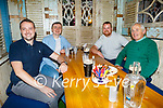 Enjoying the evening in Benners on Thursday, l to r: Peter and Colm Black, Alan McGovern and Tadgh O'Sullivan from Ardfert.