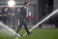 Luis Alberto of SS Lazio walks into the pitch avoiding the jets of water prior to the Champions League round of 16 football match between SS Lazio and Bayern Munchen at stadio Olimpico in Rome (Italy), February, 23th, 2021. Photo Andrea Staccioli / Insidefoto