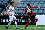 FC Seoul Midfielder Kim Hangil (r) is chased by Auckland City Defender Takuya Iwata (l) during the 2017 Lunar New Year Cup match between Auckland City FC (NZL) vs FC Seoul (KOR) on January 28, 2017 in Hong Kong, Hong Kong. Photo by Marcio Rodrigo Machado/Power Sport Images