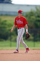 Philadelphia Phillies Nick Maton (6) during an Instructional League game against the Toronto Blue Jays on September 30, 2017 at the Carpenter Complex in Clearwater, Florida.  (Mike Janes/Four Seam Images)