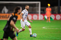LAKE BUENA VISTA, FL - JULY 23: Perry Kitchen #2 of the LA Galaxy dribbles the ball during a game between Los Angeles Galaxy and Houston Dynamo at ESPN Wide World of Sports on July 23, 2020 in Lake Buena Vista, Florida.